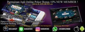 Poker online dengan bonus melimpah